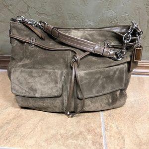 Large COACH Vintage Olive Green  Handbag